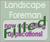 Landscape foreman position filled