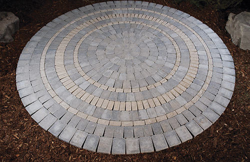 circle patio kit with border
