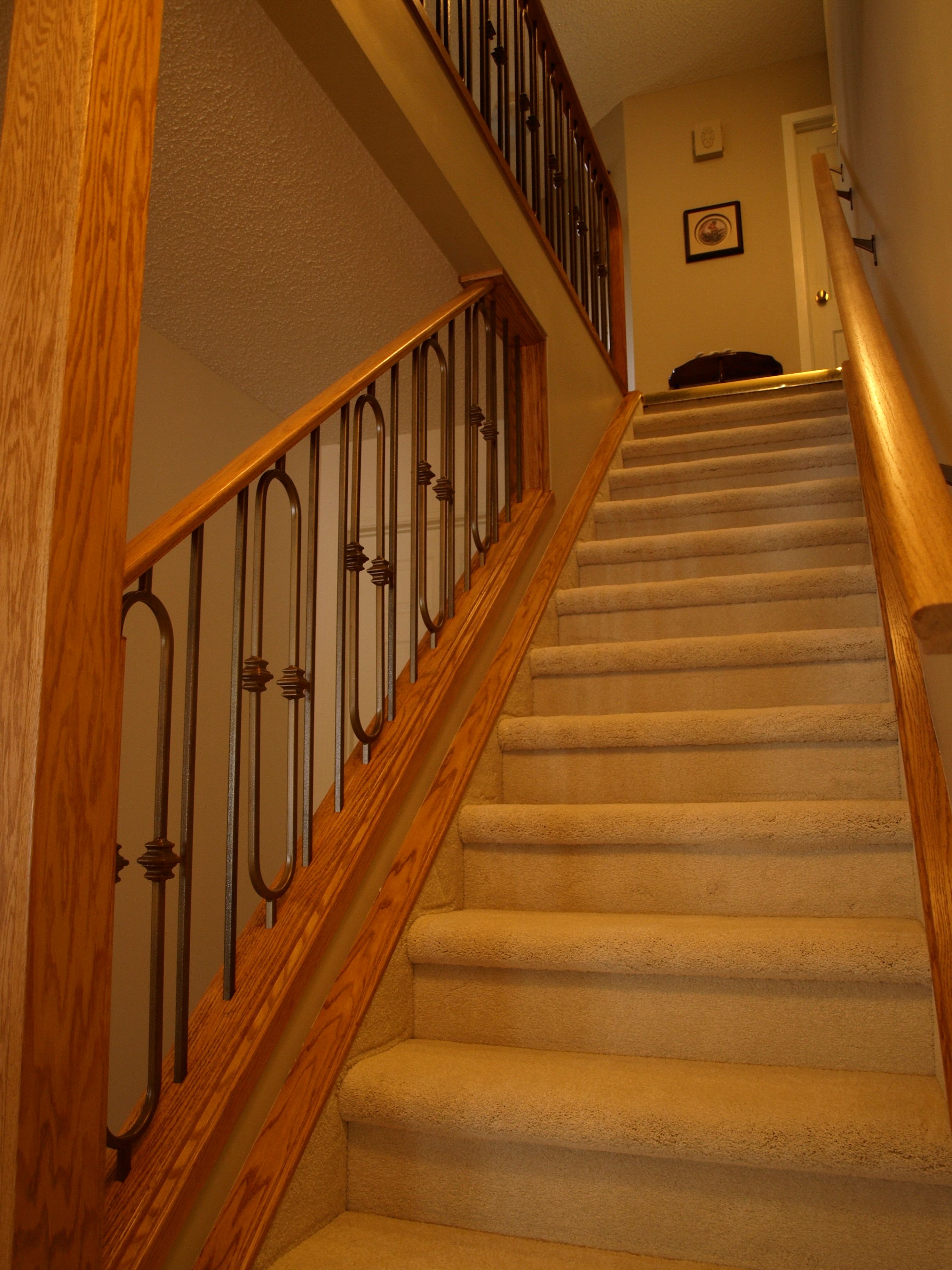 basement stair with railing kayben farms okotoks ab