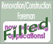 Renovation Construction Forman filled job